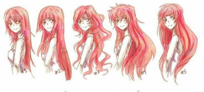 Hair Style References: Włosy W Anime. Na Rysunki, Szkice