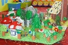 Wioska smerfów - ekologiczna makieta wykonana na konkurs organizowany przez E...