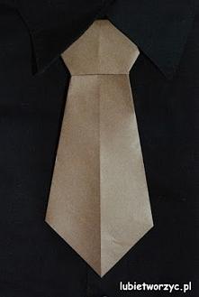 Krawat origami - pomysł na ...