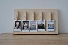 Deska z klipsami na zdjęcia