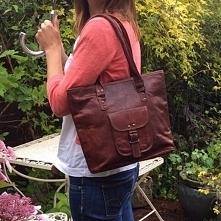 Skórzana torebka damska na ...