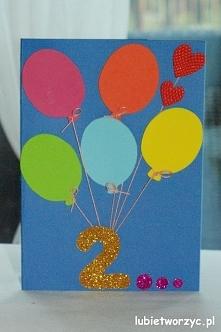 Kartka urodzinowa z balonikami