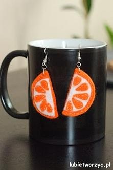 Pomarańcze - filcowe kolczyki