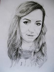 Kolejny z moich rysunków, portret mojej siostry <3