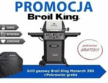 Kupując grilla gazowego Monarch 390 otrzymasz pokrowiec o wartości 319,00 zł ...