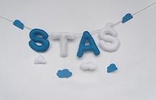 Literki zostały uszyte do chmurowego pokoju Stasia :)  Jeżeli chcesz literki ...