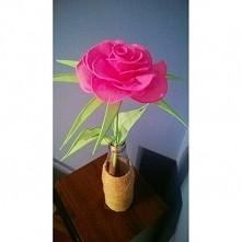 róża z bibuły, moje rękodzieło