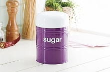 Pojemnik metalowy na cukier VINTAGE SUGAR VIOLET 1,2 l