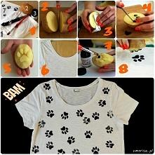 TUTORIAL - jak w szybki i prosty sposób zrobić koszulkę w kocie łapki