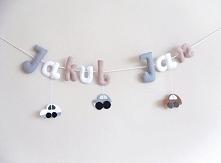 Literki zostały uszyte do oliwkowego pokoju Kubusia i Janka :)  Jeżeli chcesz...