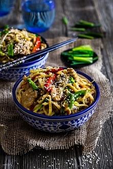 Chow mein z kurczakiem - ch...