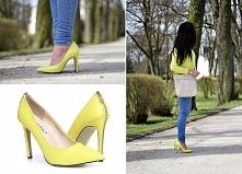 Daria z Porcelain-desire.blogspot.com stworzyła stylizację w naszych neonowych szpilkach! Do niej dobrała sweterek w takim samym kolorze jak buty. Wygląda rewelacyjnie, bardzo p...