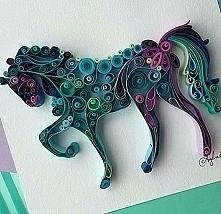 quiling-koń