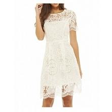Biała koronkowa sukienka ro...