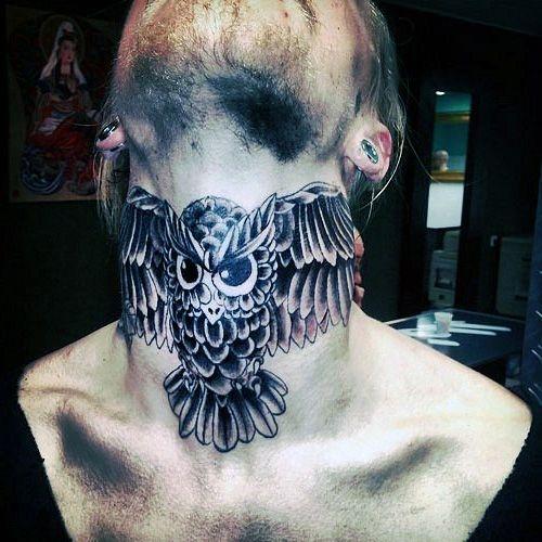 Owl Neck Tattoo Na Tatuaże Zszywkapl