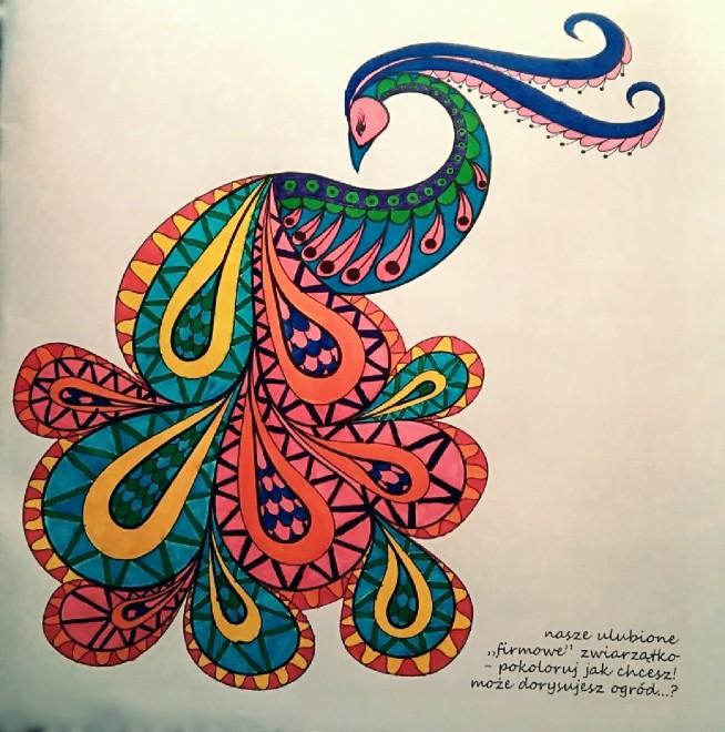paw :) kolorowanka dla dorosłych firmy PAWdruk :)