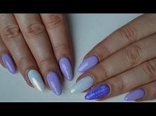 Snake Skin i Syrenka - Manicure hybrydowy w kolorze lila