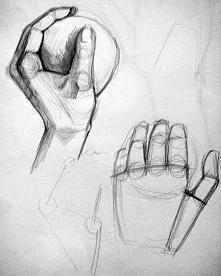studium dłoni-ołówek. zapra...
