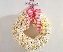 popcornowy wianek