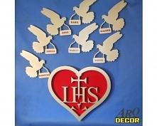 Gołąbki Z Imieniem - Dekoracja Na Pierwszą Komunię