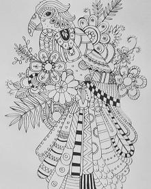 Kolorowanka rysowana ręcznie