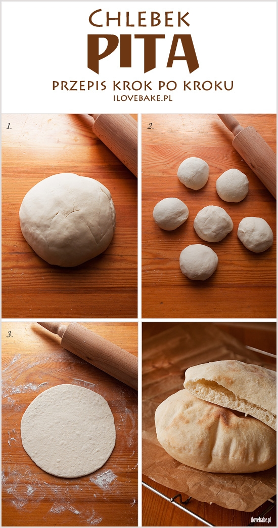 Chlebek pita – przepis krok po kroku (ze zdjęciami)