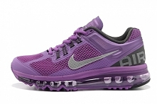 Womens Air Max 2013 Running Shoes Laser Purple Reflective Silver