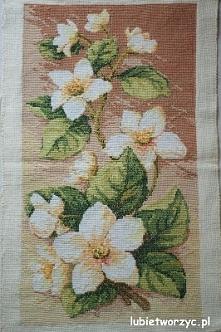 Kwiaty - haft krzyżykowy