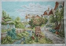Krajobraz - haft krzyżykowy
