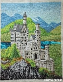 Zamek - haft krzyżykowy