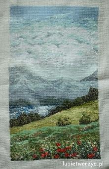 Krajobraz górski - tryptyk cz. 1 - haft krzyżykowy