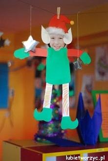 Świąteczne elfy - prace plastyczne wykonane przez dzieci
