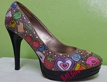 Candy - hand painted shoes ...