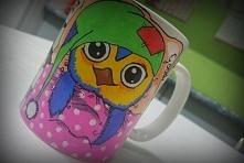 Sówka - kubek ręcznie malowany