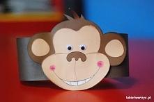 Małpka - papierowa opaska na głowę