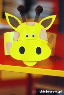 Żyrafa - papierowa opaska na głowę