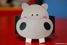 Hipopotam - opaska na głowę