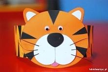 Tygrys - papierowa opaska na głowę