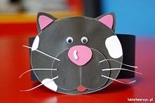 Kot - papierowa opaska na głowę
