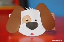 Pies - papierowa opaska na głowę
