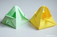 Filmik instruktażowy ukazujący sposób tworzenia koszyczka techniką origami