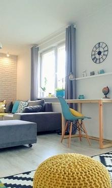 Wnętrze salonu - minimalizm...