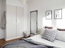 Sypialnia - jasne kolory.