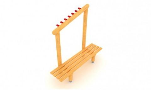 Tania ławka na plac zabaw z wieszakiem powstrzyma maluszki przed zostawianiem kurtek w przypadkowych miejscach