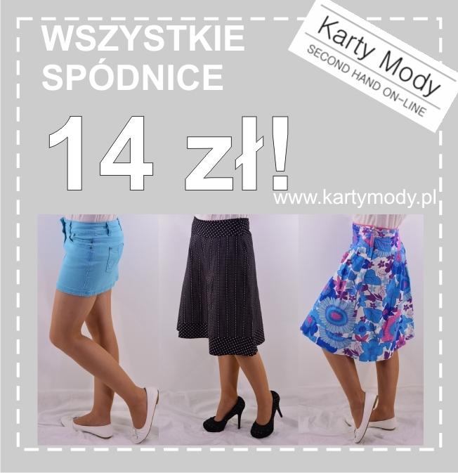 Promocja wszystkie spódnice po 14 zł.