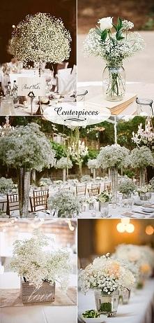 gipsówka w dekoracjach wese...