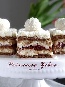 Ciasto Princessa Zebra - bez pieczenia.
