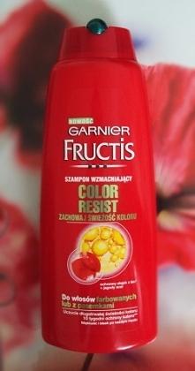 8# Denko :Garnier Fructis szampon wzmacniający zachowaj świeżość koloru do włosów farbowanych lub z pasemkami;) * Włosy pełne blasku * Piękne jak po koloryzacji Może to i prawda...