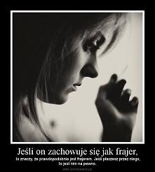 Żaden facet nie ma prawa doprowadzić kobiety do płaczu . Never ! No chyba, że ze szczęścia :)