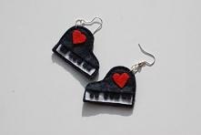 """""""Etiuda Miłości"""" - własnoręcznie wykonane filcowe kolczyki"""